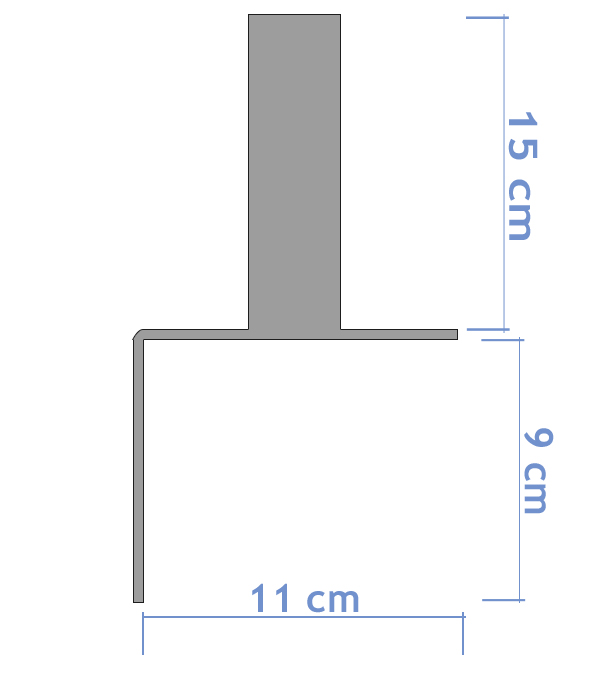 Skizze Winkelfußplatte
