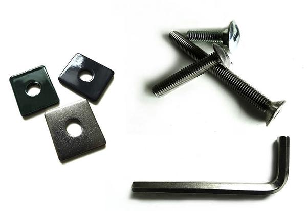 Doppelstabmattenzaun 5x Winkelfußplatte Pfostenfuß zur Montage des Zaunes auf