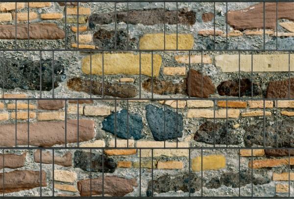 Sichtschutz mit Steinmuster   Garvels - Die Zaunkönige