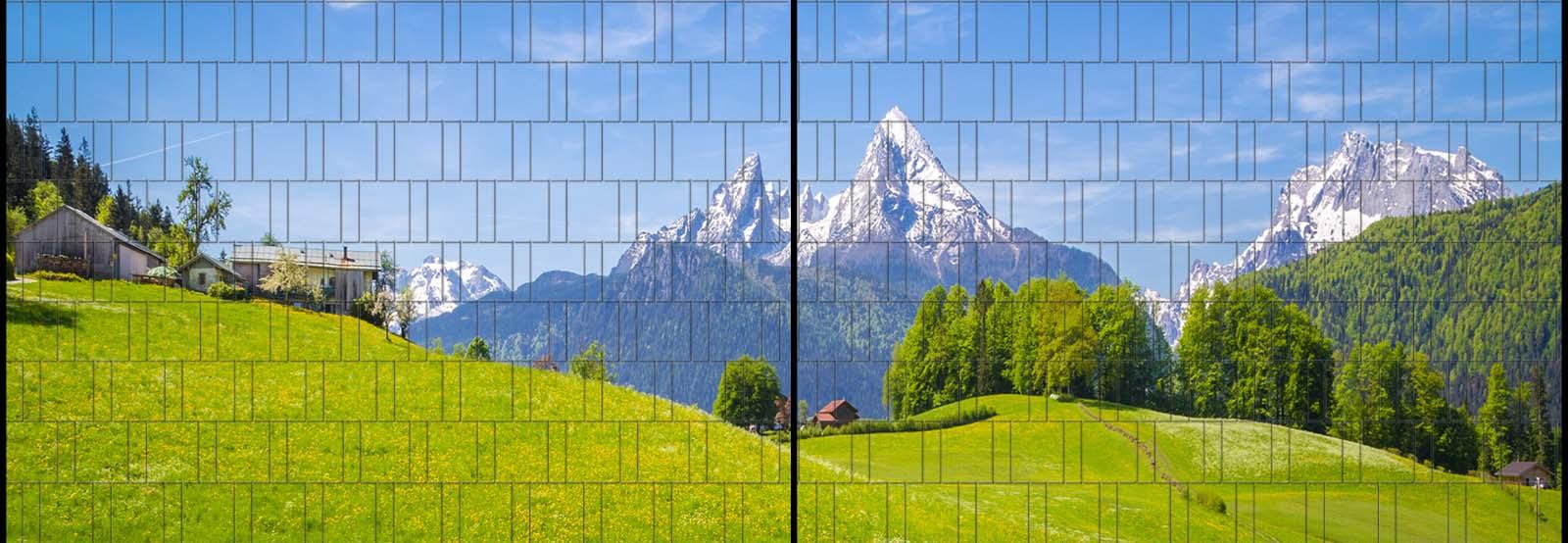 Sichtschutz Panorama Mit Alpenmotiv Bedruckt Garvels Die