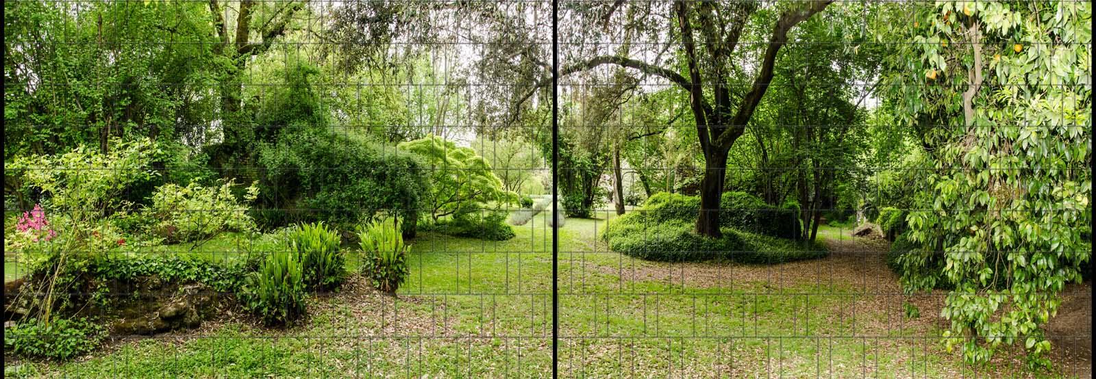 Sichtschutz Panorama Mit Park Landschaft Motiv Bedruckt Garvels